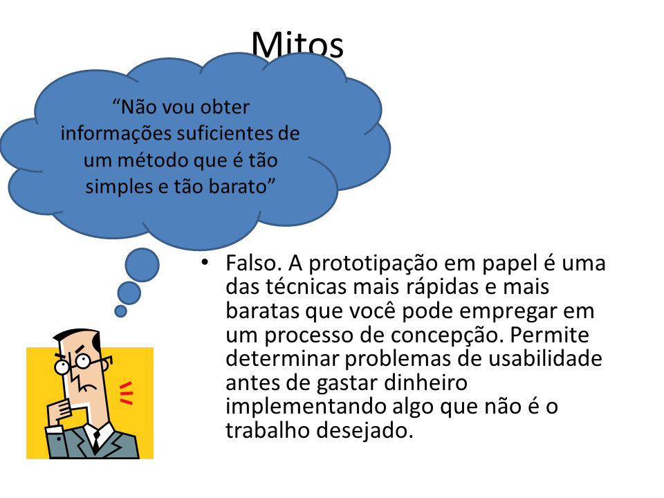Mitos Não vou obter informações suficientes de um método que é tão simples e tão barato