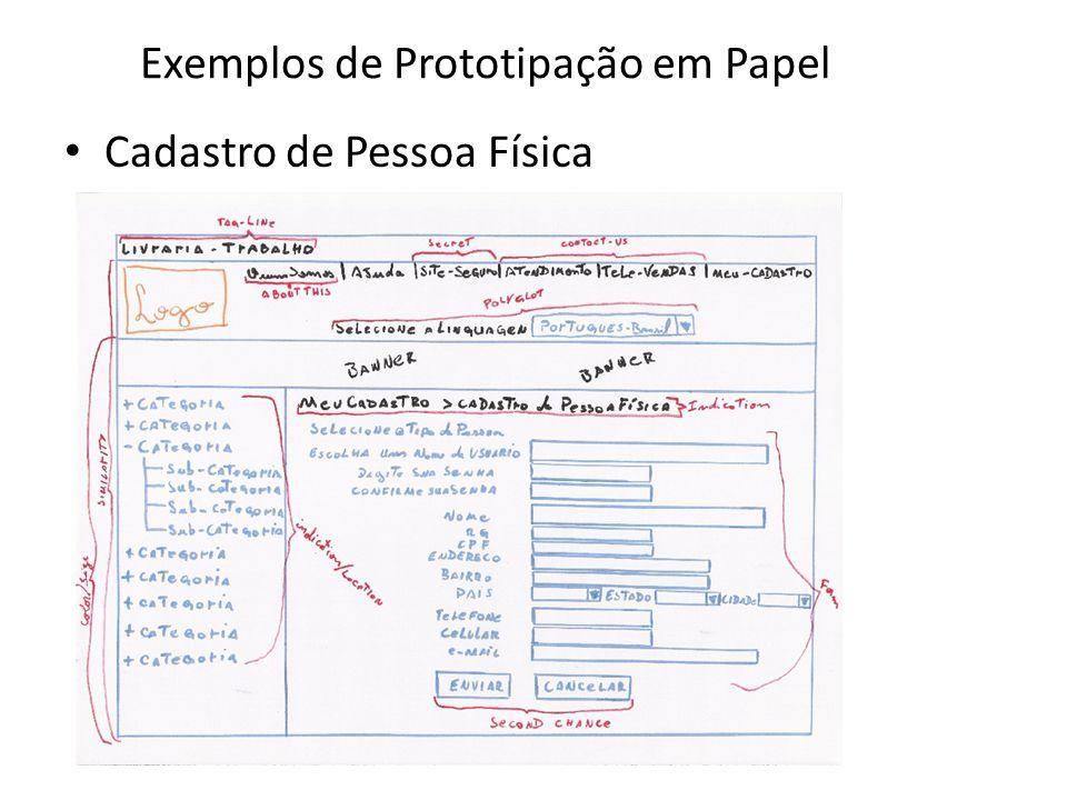 Exemplos de Prototipação em Papel