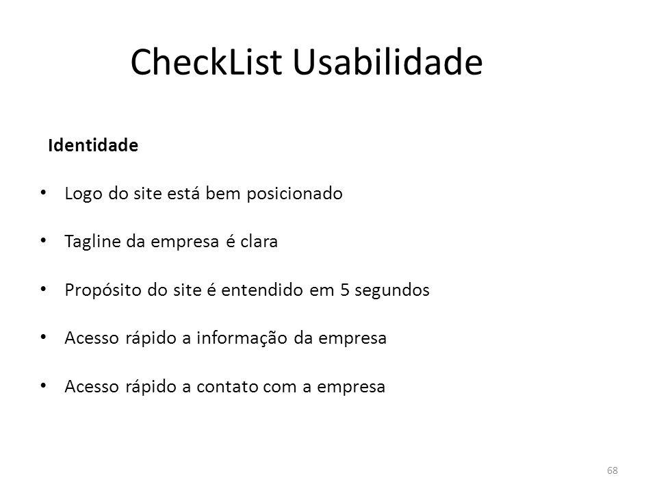 CheckList Usabilidade