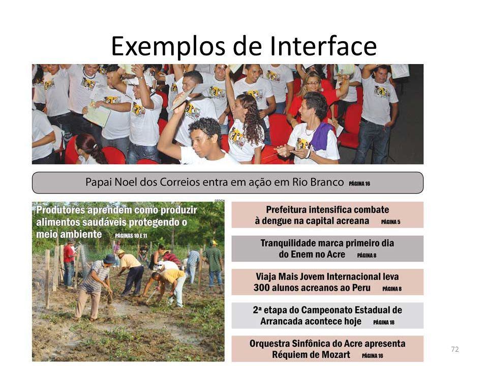 Exemplos de Interface