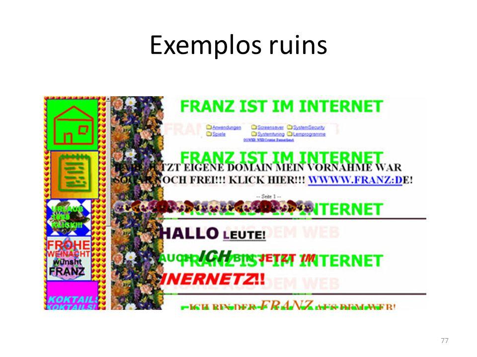 Exemplos ruins