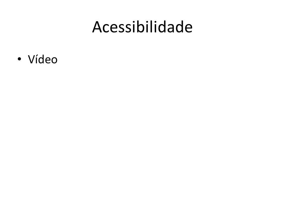 Acessibilidade Vídeo