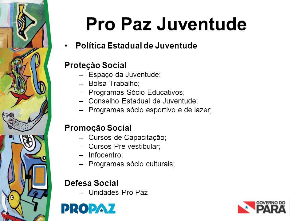 Pro Paz Juventude Política Estadual de Juventude Proteção Social
