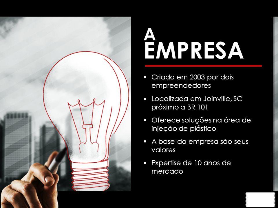 EMPRESA A Criada em 2003 por dois empreendedores