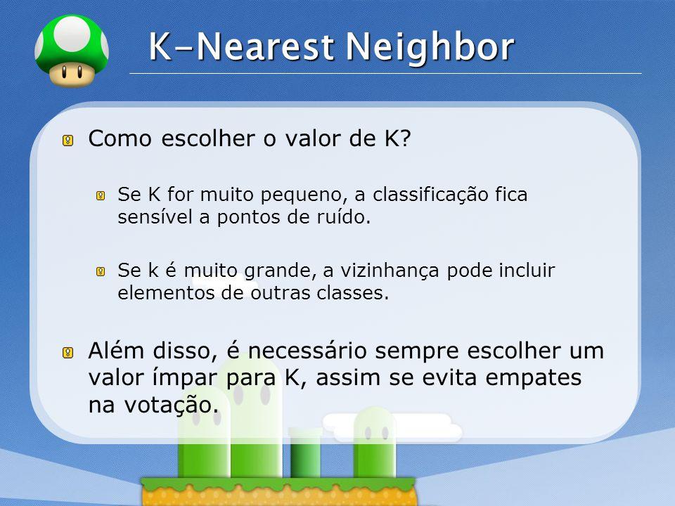 K-Nearest Neighbor Como escolher o valor de K