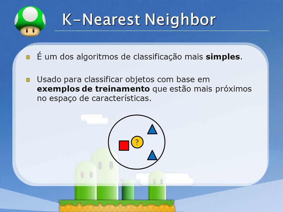 K-Nearest Neighbor É um dos algoritmos de classificação mais simples.