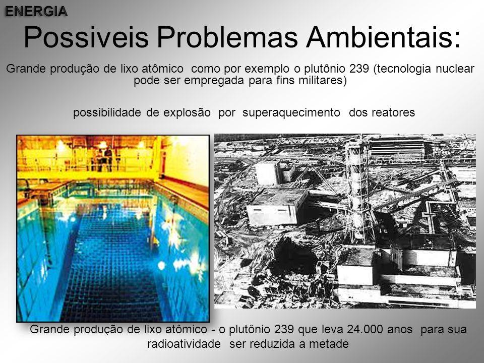 Possiveis Problemas Ambientais: