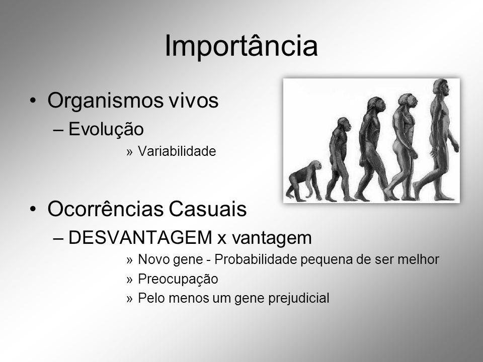 Importância Organismos vivos Ocorrências Casuais Evolução