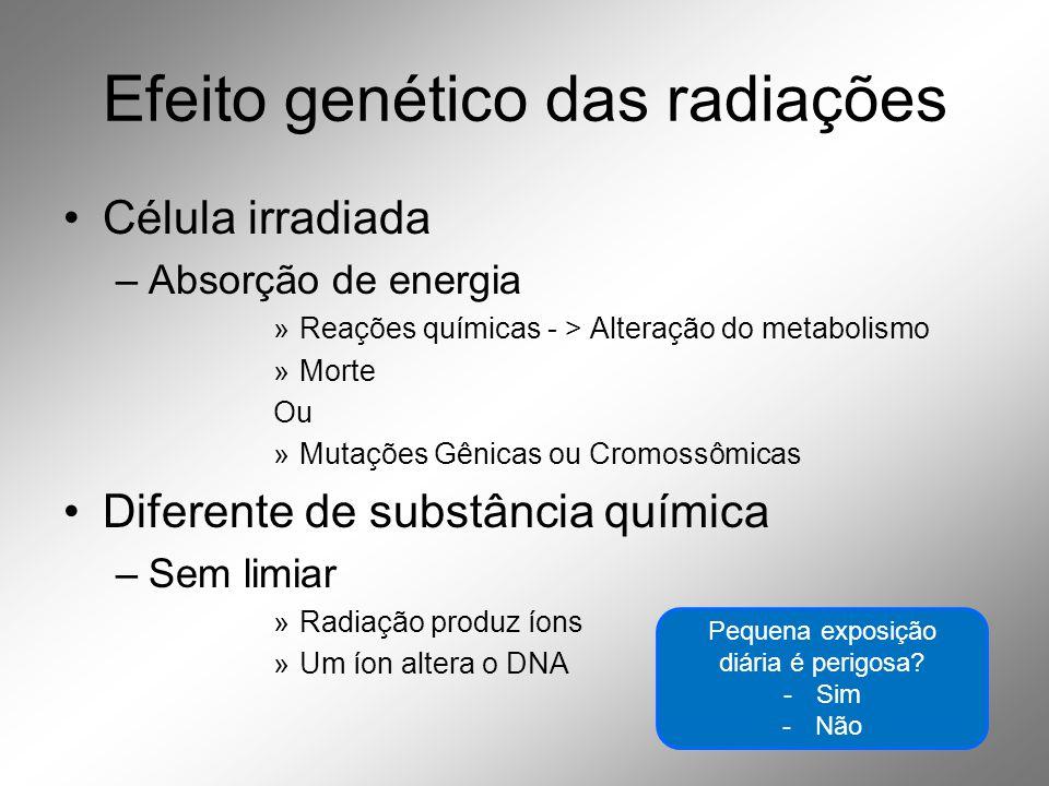 Efeito genético das radiações