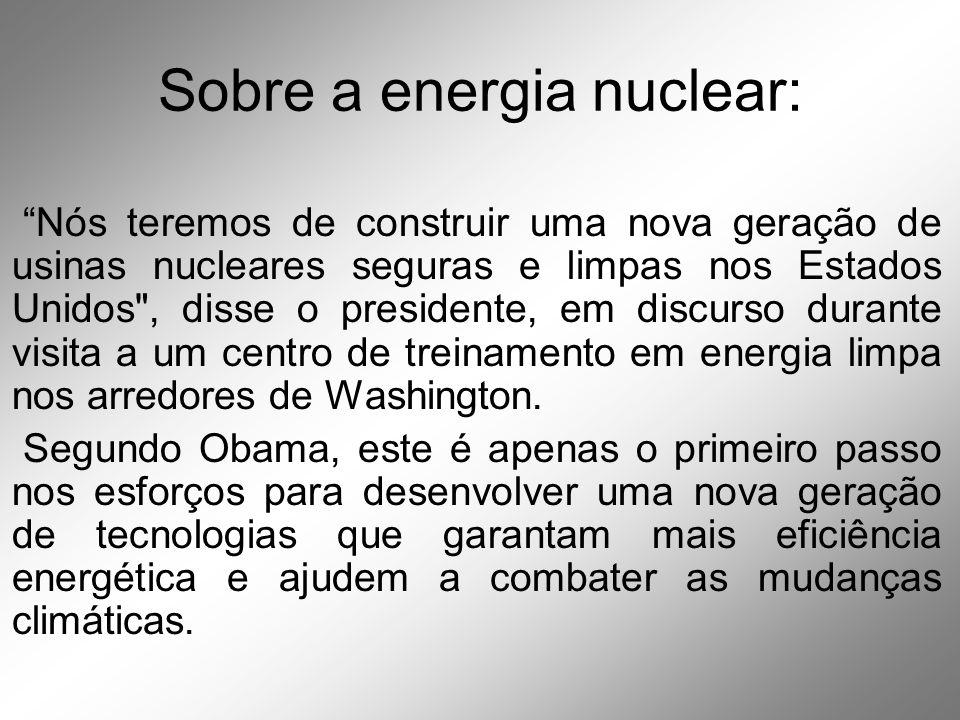 Sobre a energia nuclear: