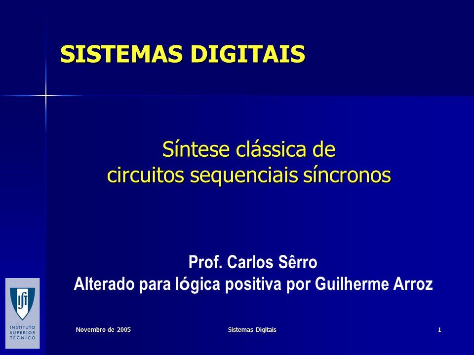 Síntese clássica de circuitos sequenciais síncronos