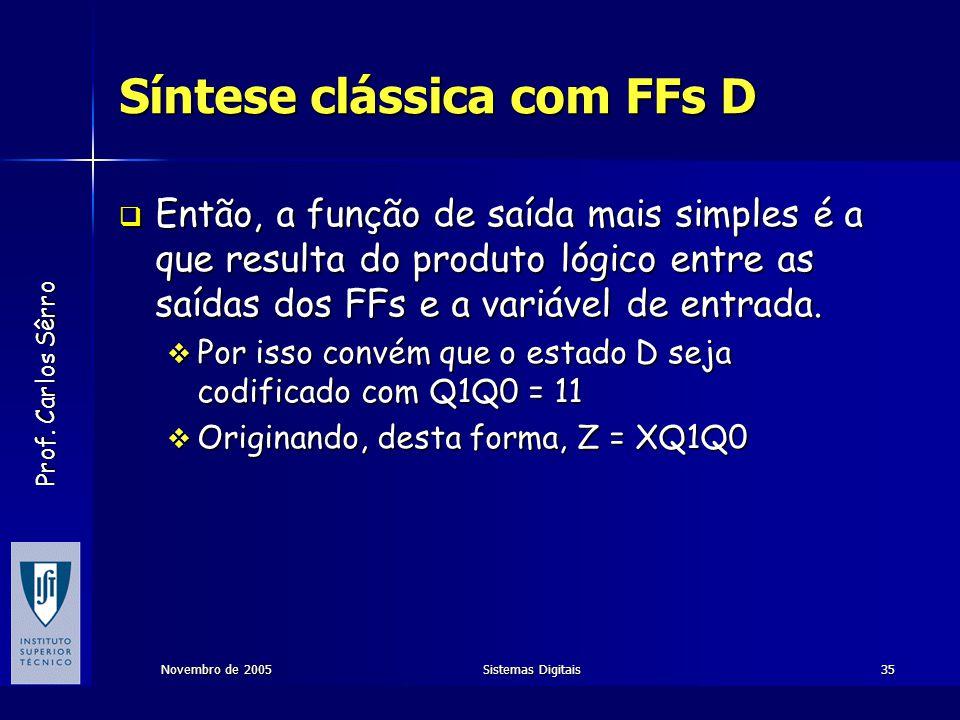 Síntese clássica com FFs D