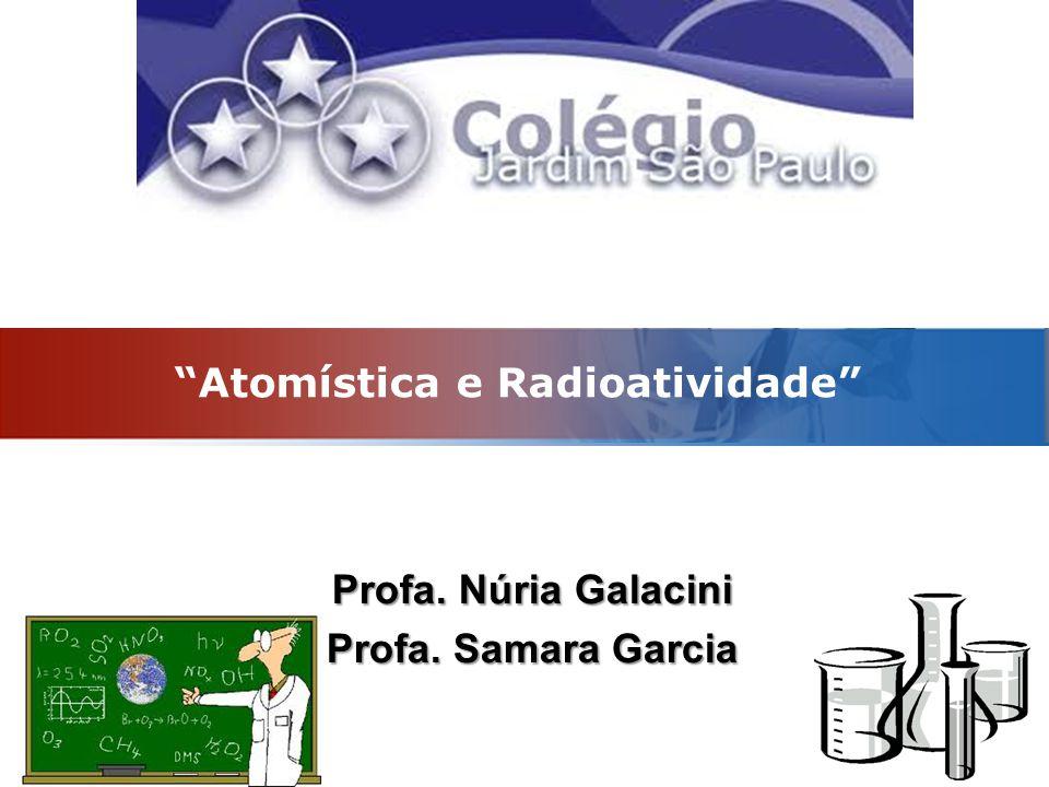 Atomística e Radioatividade