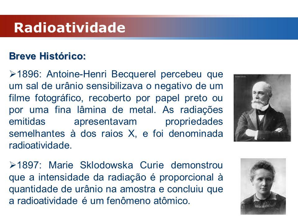 Radioatividade Breve Histórico:
