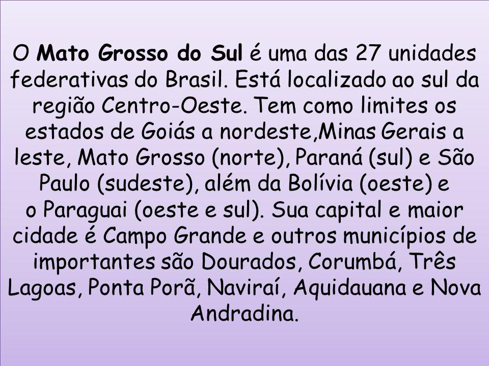 O Mato Grosso do Sul é uma das 27 unidades federativas do Brasil