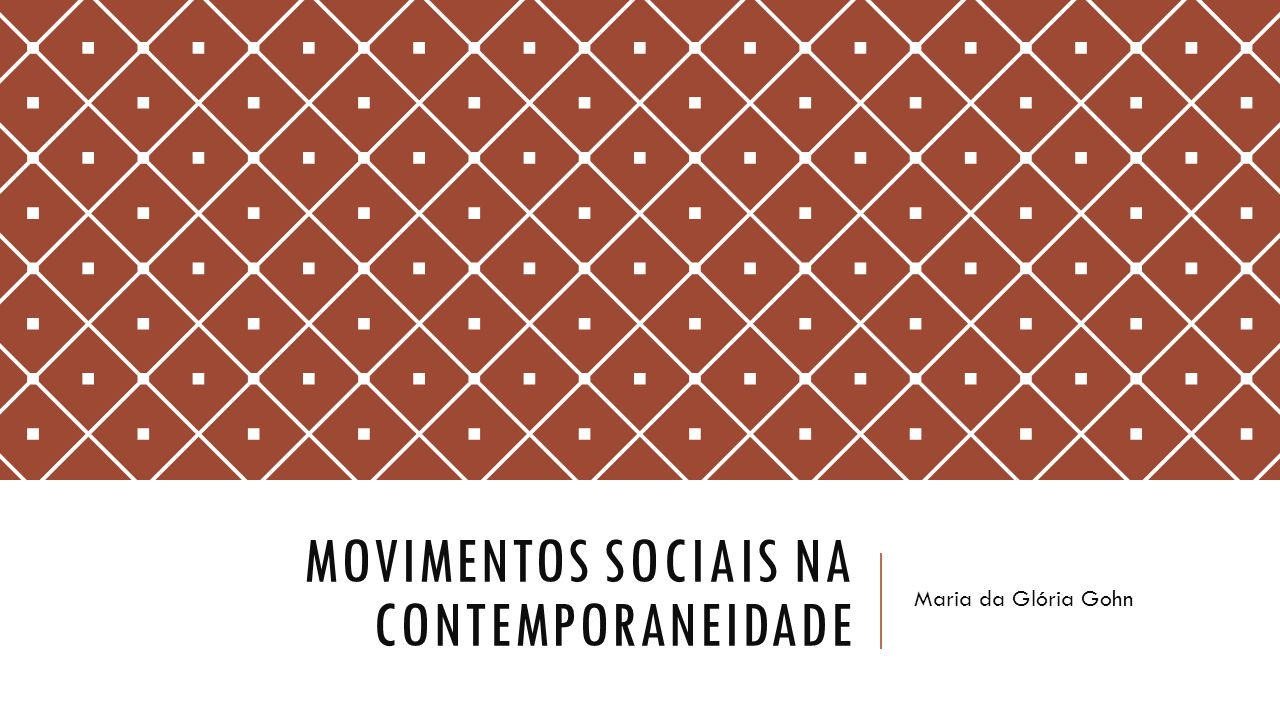 Movimentos sociais na contemporaneidade