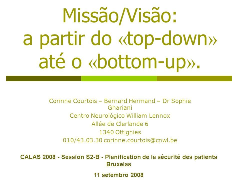 Missão/Visão: a partir do «top-down» até o «bottom-up».