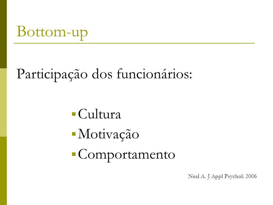 Bottom-up Participação dos funcionários: Cultura Motivação