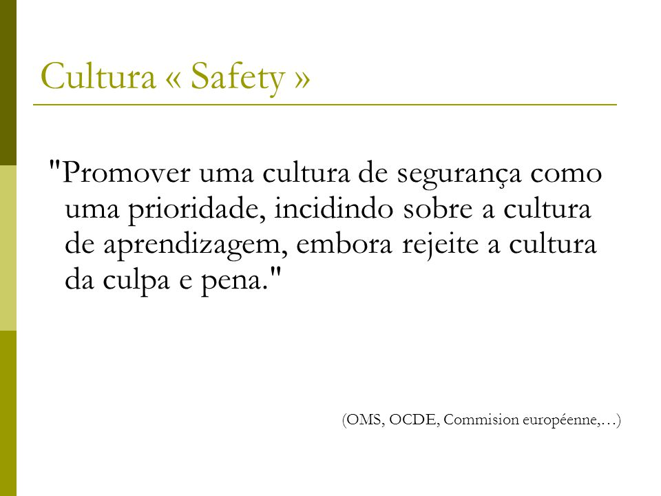 Cultura « Safety »