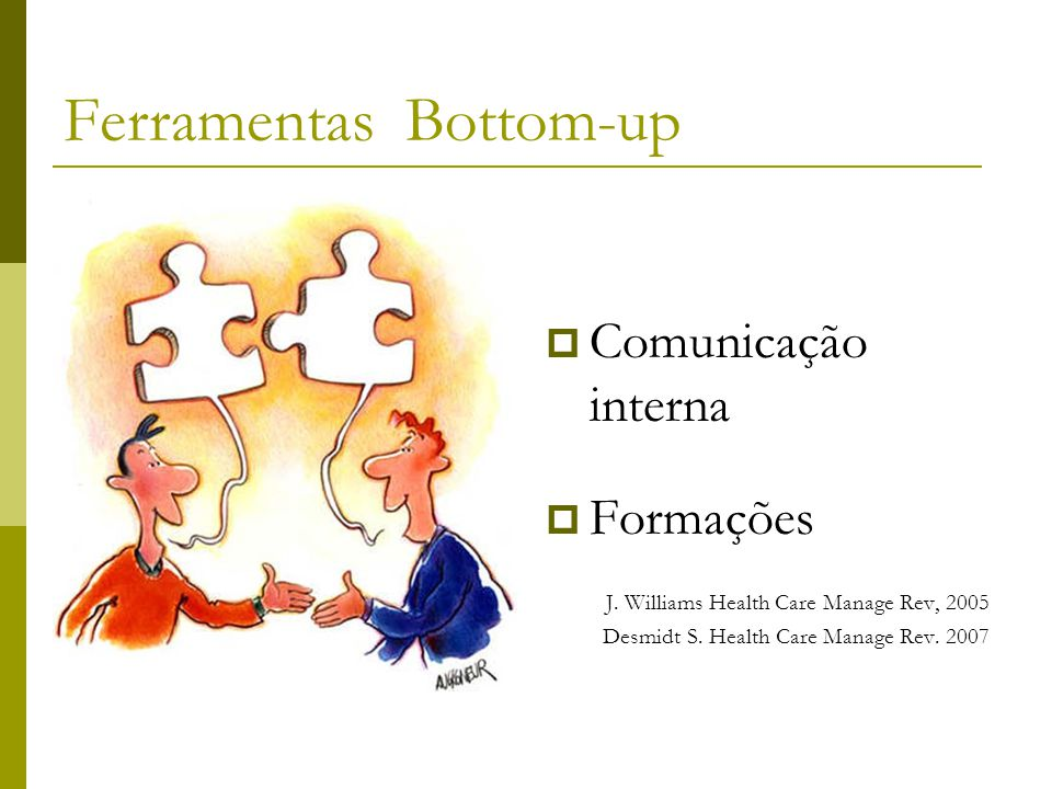 Ferramentas Bottom-up