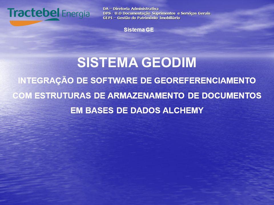 SISTEMA GEODIM INTEGRAÇÃO DE SOFTWARE DE GEOREFERENCIAMENTO