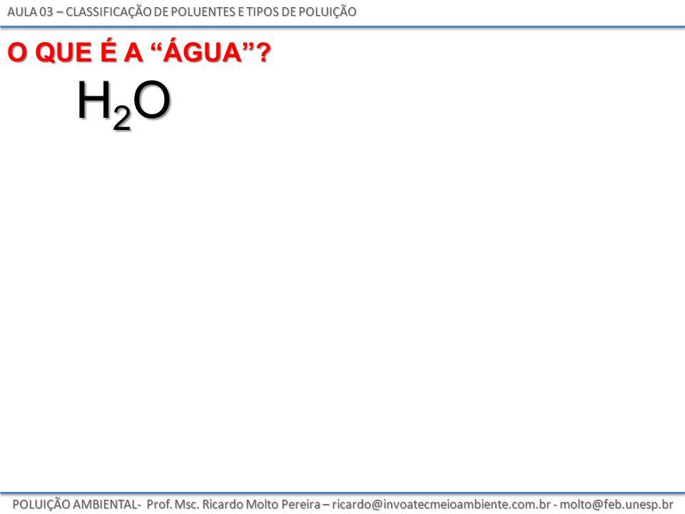 Aula 03 – classificação de poluentes e tipos de poluição
