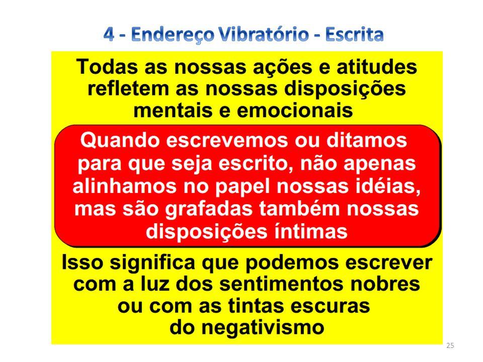 4 - Endereço Vibratório - Escrita