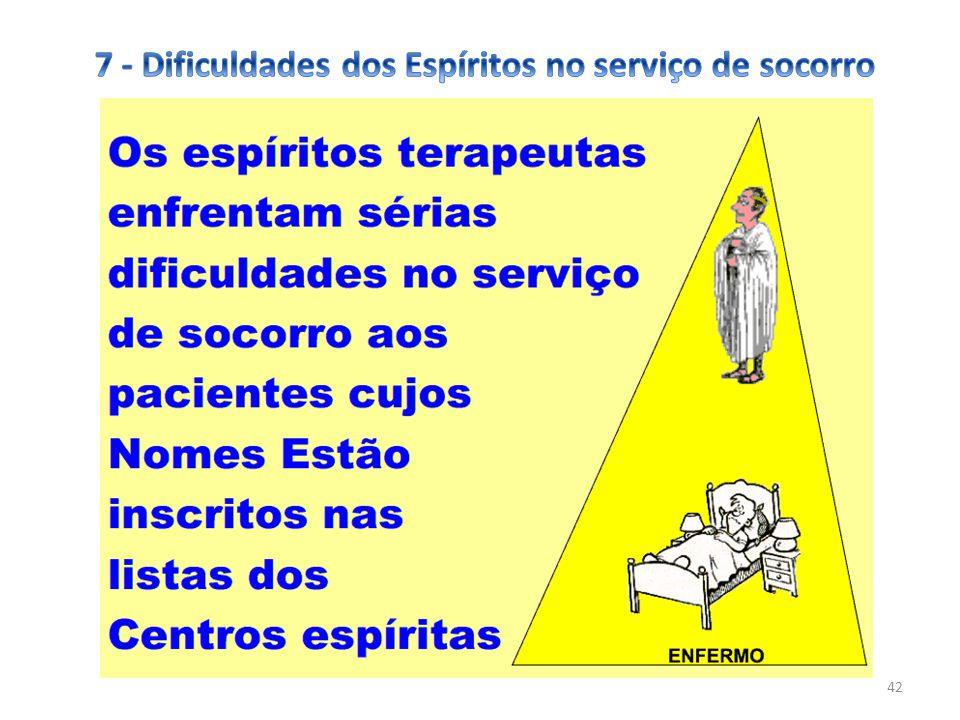 7 - Dificuldades dos Espíritos no serviço de socorro