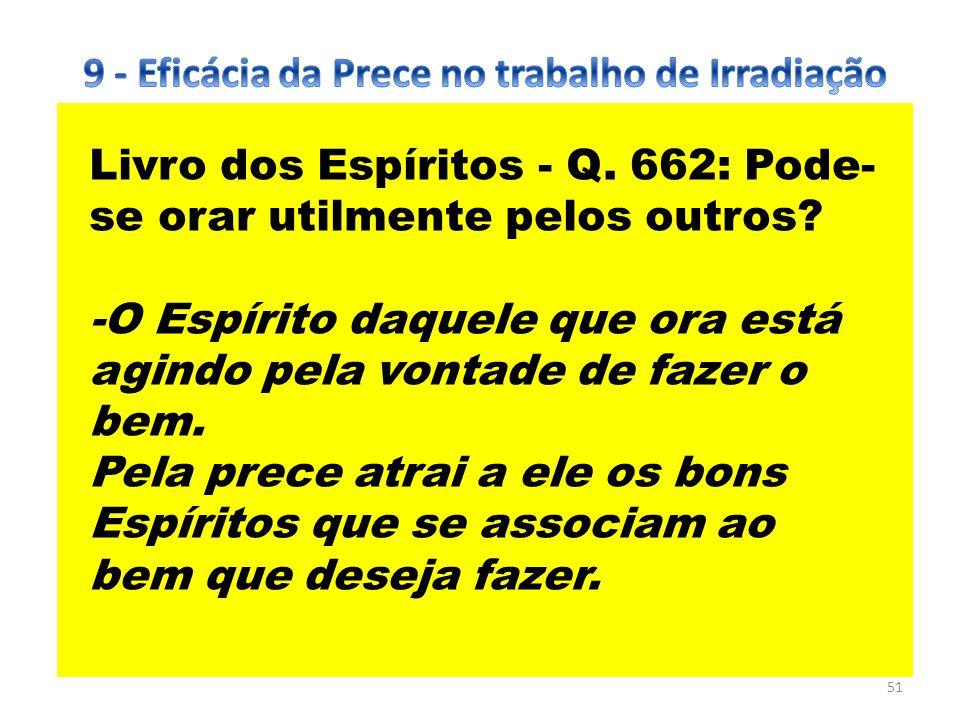 9 - Eficácia da Prece no trabalho de Irradiação