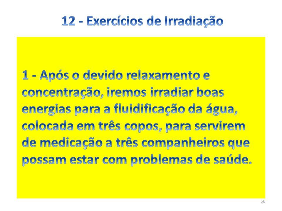 12 - Exercícios de Irradiação