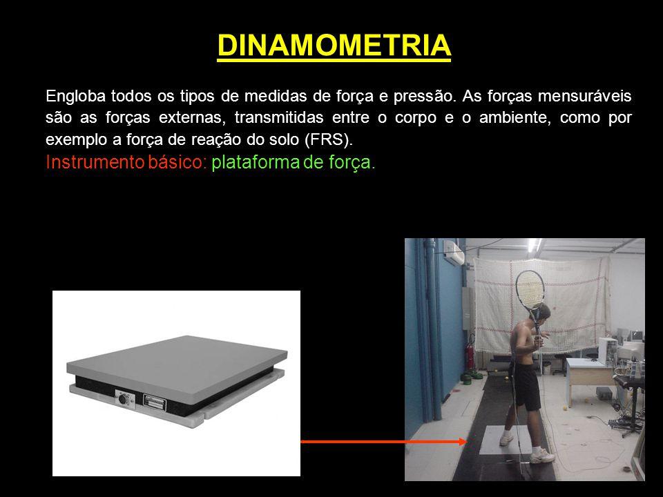 DINAMOMETRIA Instrumento básico: plataforma de força.