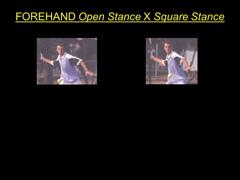 FOREHAND Open Stance X Square Stance
