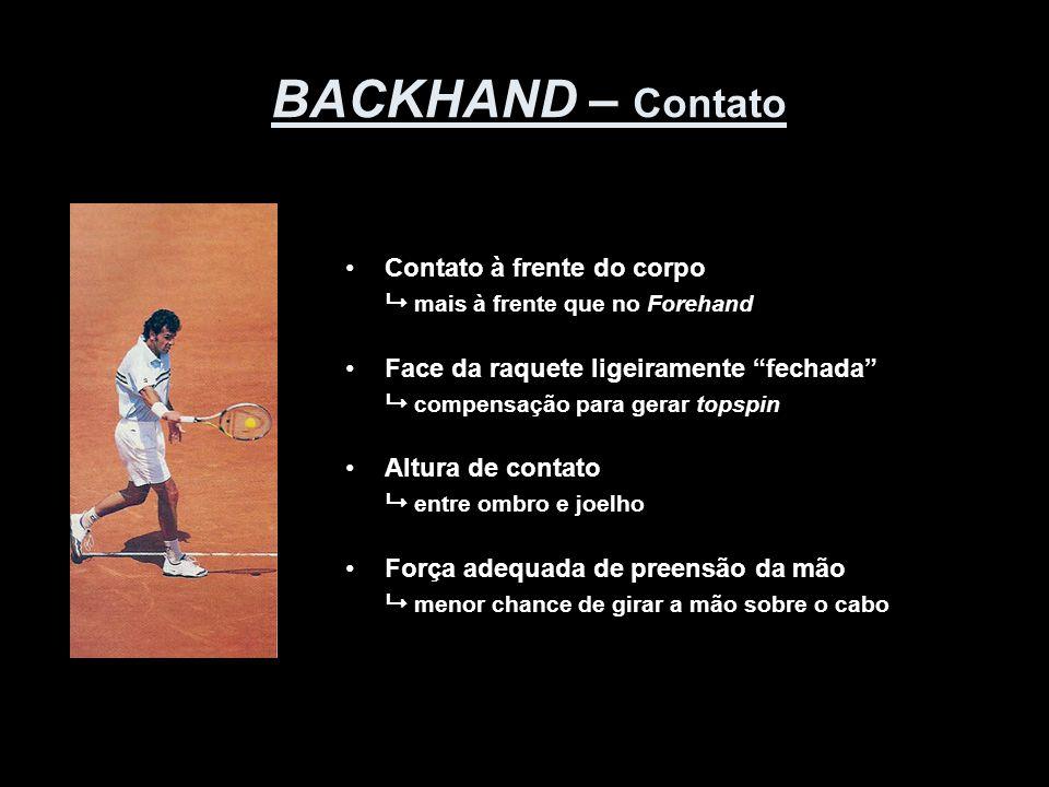 BACKHAND – Contato Contato à frente do corpo