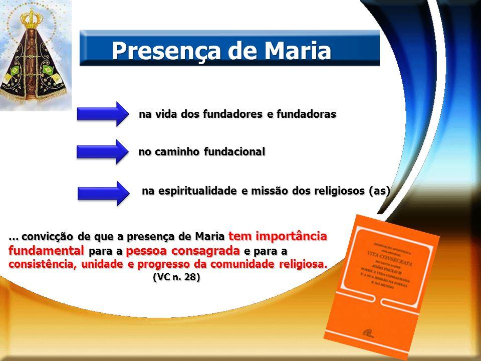 Presença de Maria na vida dos fundadores e fundadoras