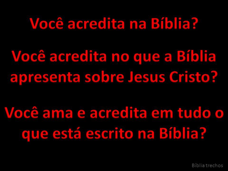 Você acredita na Bíblia
