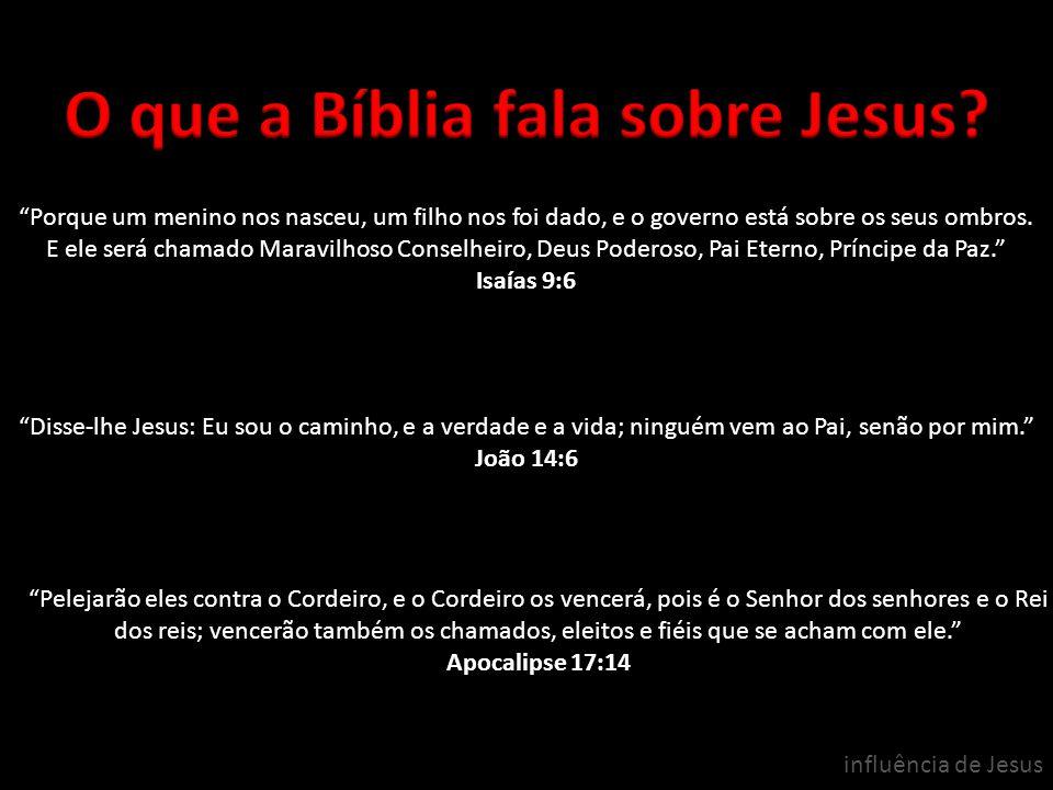 O que a Bíblia fala sobre Jesus