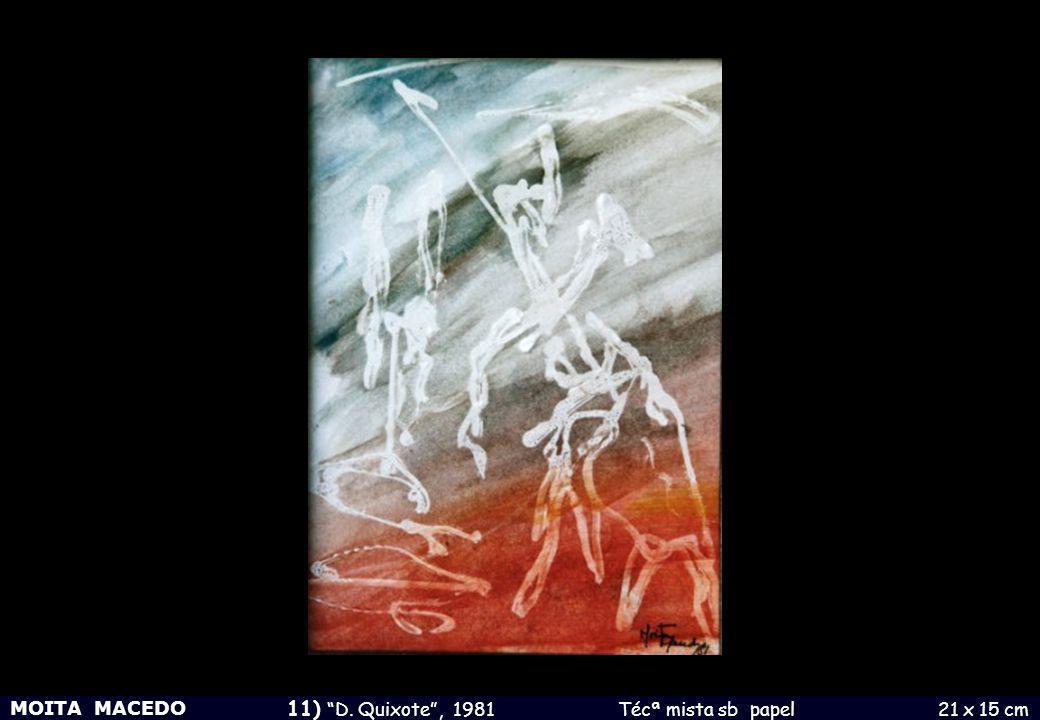 11) D. Quixote , 1981 Técª mista sb papel 21 x 15 cm