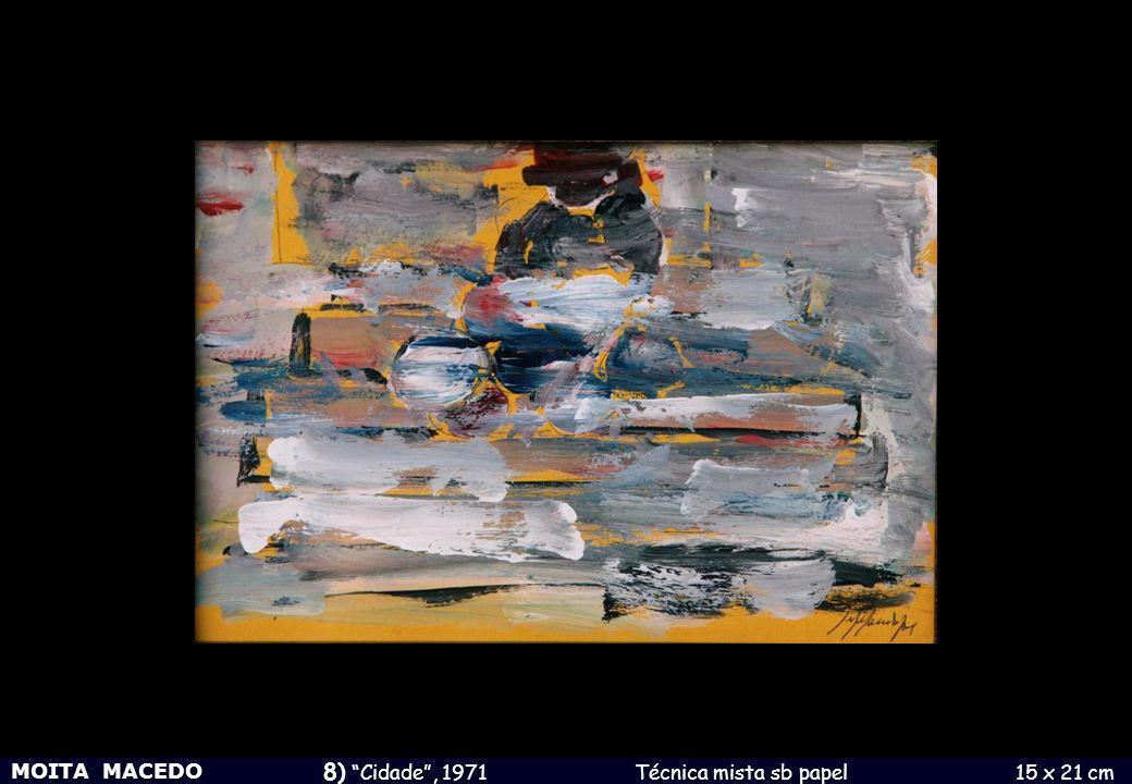 8) Cidade , 1971 Técnica mista sb papel 15 x 21 cm