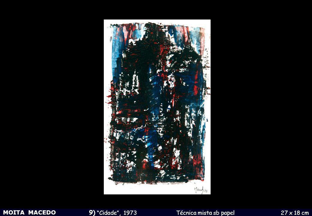 9) Cidade , 1973 Técnica mista sb papel 27 x 18 cm