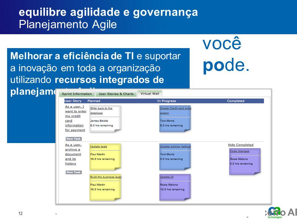 equilibre agilidade e governança Planejamento Agile