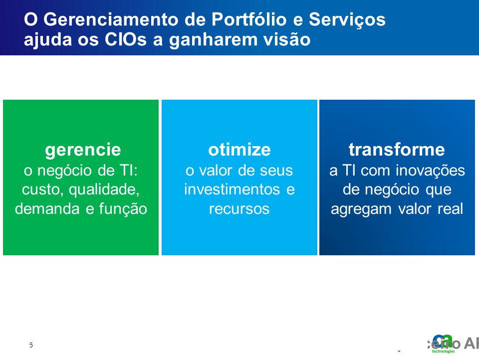 O Gerenciamento de Portfólio e Serviços ajuda os CIOs a ganharem visão