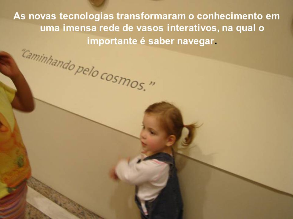 As novas tecnologias transformaram o conhecimento em uma imensa rede de vasos interativos, na qual o importante é saber navegar.