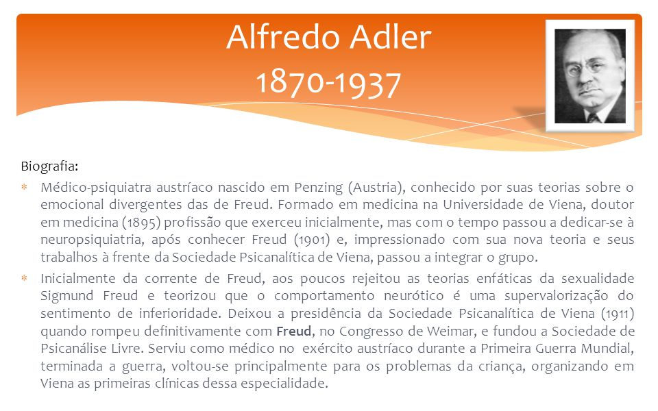 Alfredo Adler 1870-1937 Biografia: