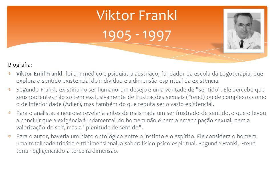 Viktor Frankl 1905 - 1997 Biografia: