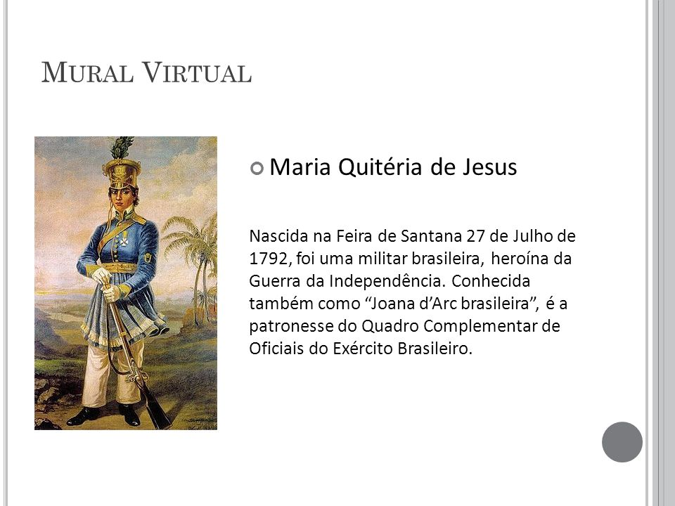 Mural Virtual Maria Quitéria de Jesus