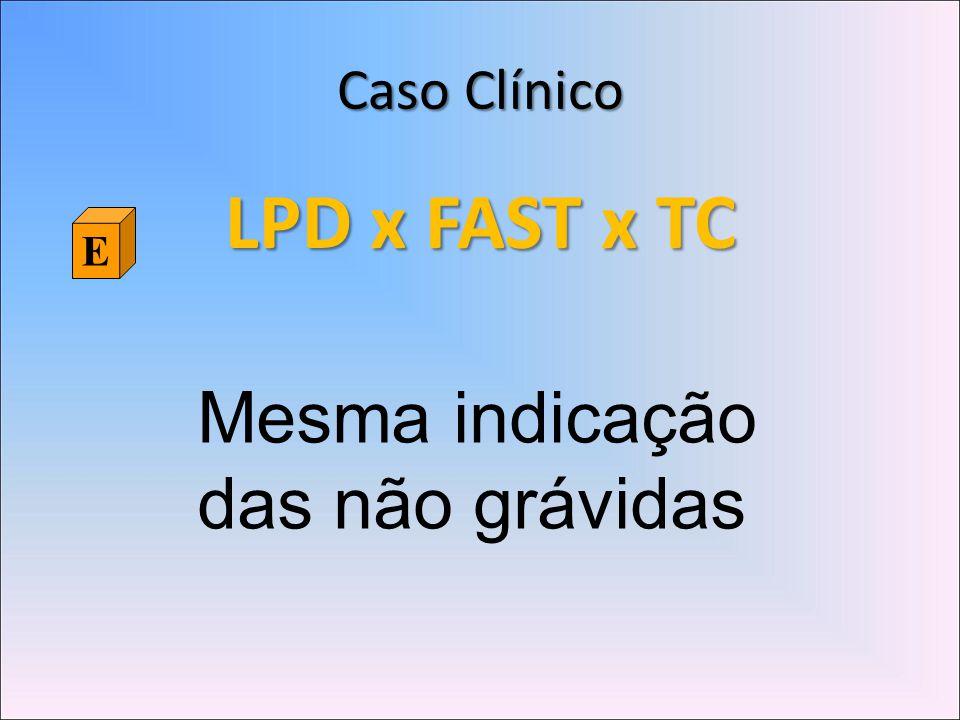 Caso Clínico LPD x FAST x TC E Mesma indicação das não grávidas