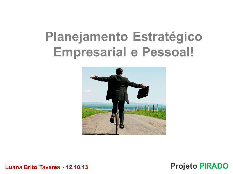 Planejamento Estratégico Empresarial e Pessoal!