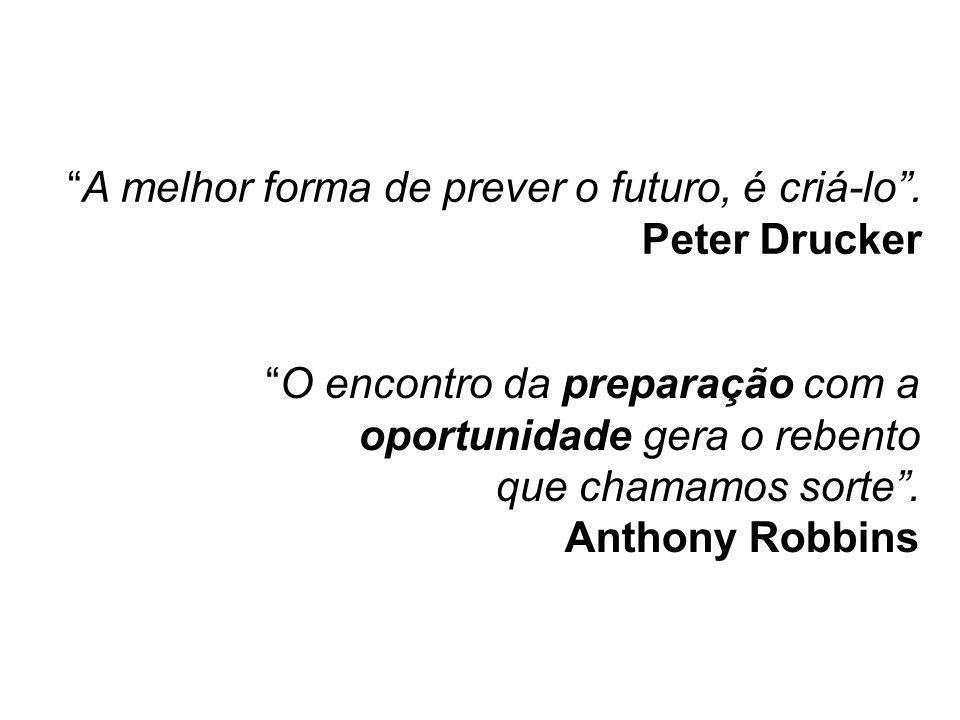 A melhor forma de prever o futuro, é criá-lo . Peter Drucker