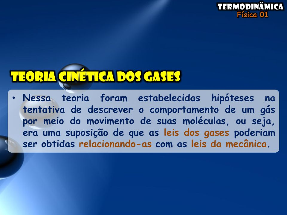 Teoria cinética dos gases