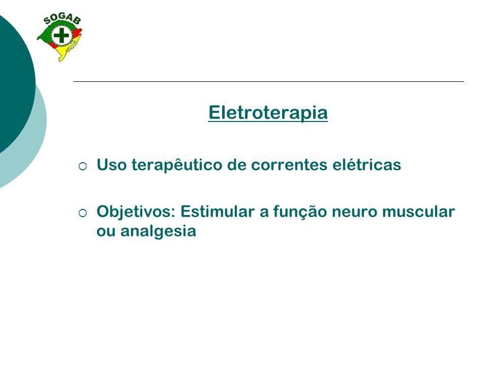 Eletroterapia Uso terapêutico de correntes elétricas